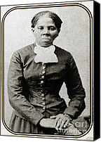 Abolitionist Canvas Prints - Harriet Tubman, American Abolitionist Canvas Print by Photo Researchers