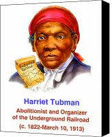 Abolitionist Canvas Prints - Harriet Tubman Canvas Print by Valerian Ruppert