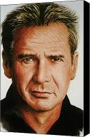 Indiana Drawings Canvas Prints - Harrison Ford Canvas Print by Andrew Read