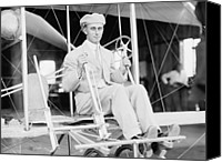 Bi Planes Canvas Prints - Harry Atwood A Pupil Of The Wright Canvas Print by Everett