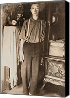 Amputee Canvas Prints - Harry Mcshane, Age 16, Had His Arm Canvas Print by Everett