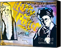 Conscious Painting Canvas Prints - Harry Potter with Dumbledore Canvas Print by Tony B Conscious