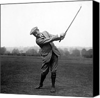 Sports Photo Canvas Prints - Harry Vardon swinging his golf club Canvas Print by International  Images