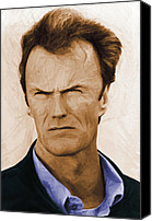 Clint Eastwood Canvas Prints - Harrys Law Canvas Print by Stefan Kuhn