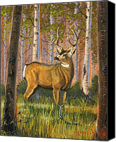 Mule Deer Canvas Prints - Hart of the Forest Canvas Print by Jeff Brimley