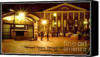 Harvard Canvas Prints - Harvard  Square Canvas Print by Frank Garciarubio