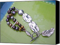 Sterling Silver Bracelet Jewelry Canvas Prints - Harvest Berry Feast Canvas Print by Beth Sebring