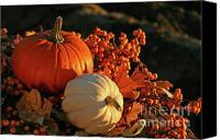 Halloween Scene Canvas Prints - Harvest colors Canvas Print by Sandra Cunningham