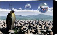 Spheres Canvas Prints - Harvest Day Sightings Canvas Print by Richard Rizzo