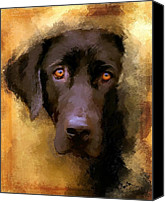 Pet Canvas Prints - Harvest Lab Canvas Print by Robert Smith