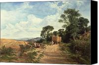 Cole Canvas Prints - Harvest Time Canvas Print by George Vicat Cole