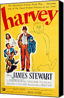 1950 Movies Photo Canvas Prints - Harvey, Victoria Horne, Jesse White Canvas Print by Everett