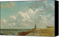 The White House Painting Canvas Prints - Harwich - The Low Lighthouse and Beacon Hill Canvas Print by John Constable