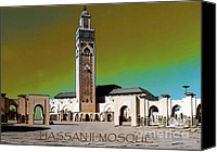 Casablanca Canvas Prints - Hassan Ii Mosque Canvas Print by Linda  Parker