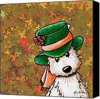 Mad Hatter Canvas Prints - Hat Season Cairn Terrier Canvas Print by Kim Niles