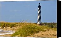 Lighthouse Canvas Prints - Hatteras Lighthouse Canvas Print by Ches Black