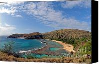 Bathe Canvas Prints - Hauanama Bay Point Canvas Print by Jim Chamberlain