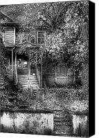 Haunted House Canvas Prints - Haunted - Abandoned Canvas Print by Mike Savad