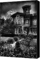 Haunted House Canvas Prints - Haunted - Haunted House Canvas Print by Mike Savad