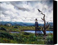 Ghost Story Canvas Prints - Haunted Desolation Canvas Print by Laura Iverson