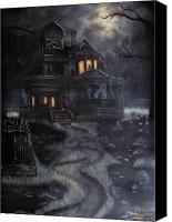 Haunted House Canvas Prints - Haunted House Canvas Print by Kayla Ascencio
