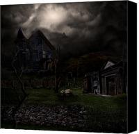 Haunted House Canvas Prints - Haunted House Canvas Print by Lisa Evans