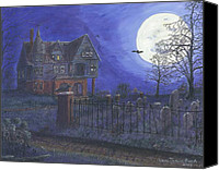 Haunted House Canvas Prints - Haunted House Canvas Print by Lori  Theim-Busch