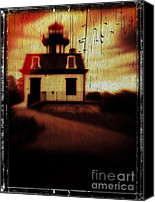 Creepy Canvas Prints - Haunted Lighthouse Canvas Print by Edward Fielding