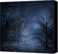 Creepy Canvas Prints - Haunted Place Canvas Print by Svetlana Sewell