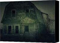 Haunted House Canvas Prints - Haunting Canvas Print by Scott Hovind