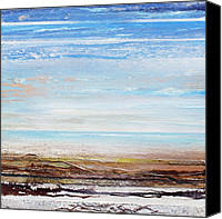 Rhythms Canvas Prints - Hauxley Haven Blue Rhythms and textures 1F Canvas Print by Mike   Bell