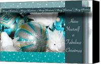 Christmas Cards Canvas Prints - Have Yourself a Fabulous Christmas Canvas Print by Lisa Knechtel