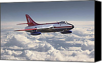 Raf Canvas Prints - Hawker Hunter Canvas Print by Pat Speirs