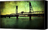 Textures Canvas Prints - Hawthorne Bridge Canvas Print by Cathie Tyler