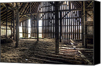 Old Wood Building Canvas Prints - Hay Loft 2 Canvas Print by Scott Norris