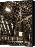 Old Wood Building Canvas Prints - Hay Loft Canvas Print by Scott Norris