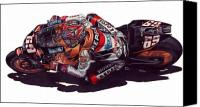 Motogp Canvas Prints - Hayden Canvas Print by Kristen Wesch