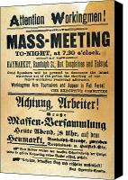 Martyrs Canvas Prints - Haymarket Handbill, 1886 Canvas Print by Granger