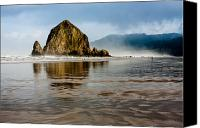 Whalen Photography Canvas Prints - Haystack Rock Canvas Print by Josh Whalen