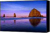 Oregon Canvas Prints - Haystack Sunrise Canvas Print by Brian Bonham