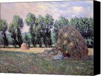 Sat Canvas Prints - Haystacks Canvas Print by Claude Monet
