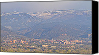Insogna Canvas Prints - Hazy Low Cloud Morning Boulder Colorado University Scenic View  Canvas Print by James Bo Insogna