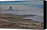 Beaches Canvas Prints - HDR Beach Beaches Ocean Sea Seaview Waves Sandy Photos Pictures Photography Scenic Photograph Photo  Canvas Print by Pictures HDR