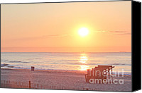 T-shirt Photo Canvas Prints - HDR Beach Ocean Beaches Oceanview Scenic Sunrise Seaview Sea Photos Pictures Photo Canvas Print by Pictures HDR