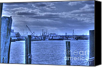 Wave Pyrography Canvas Prints - HDR Fishing Boat across the Jetty Canvas Print by Pictures HDR