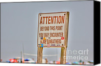 Beaches Canvas Prints - HDR Sunbather Sign Beach Beaches Ocean Sea Photos Pictures Buy Sell Selling New Photography Pics  Canvas Print by Pictures HDR