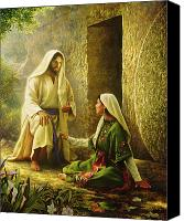 Magdalene Canvas Prints - He is Risen Canvas Print by Greg Olsen