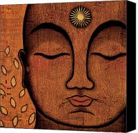 Tibetan Buddhism Canvas Prints - He Knows Canvas Print by Gloria Rothrock