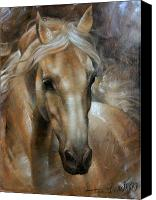Artwork   Canvas Prints - Head Horse 2 Canvas Print by Arthur Braginsky