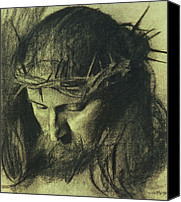 Son Canvas Prints - Head of Christ Canvas Print by Franz Von Stuck